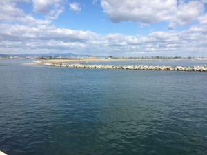 閖上漁港(名取川河口)