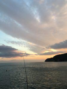 蛤浜の夕日